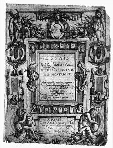 Titelblad van Montaignes Essais