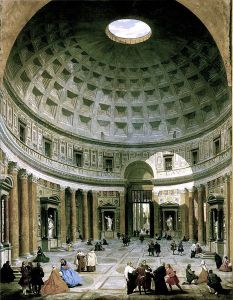 Giovanni Paolo Panini: Het interieur van het Pantheon (ca 1730), foto WC