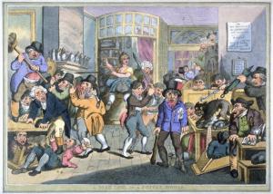Thomas Rowlandson: A Mad Dog in a Coffee-House (ca 1800)