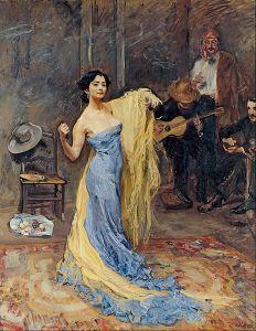 Anna Pavlova door Max Slevogt, 1904