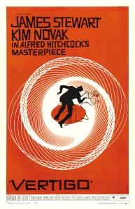 Poster voor Vertigo, ontworpen door Saul Bass