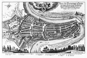Plattegrond van de middeleeuwse stad van Bern