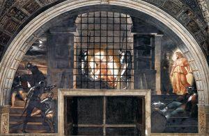 De Rafaël-stanza 'Bevrijding van Petrus'