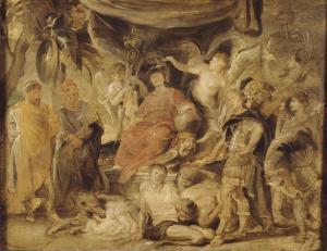 Karton voor een wandtapijt van Rubens over keizer Constantijn)