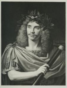 Molière als Caesar naar Nicolas Mignard