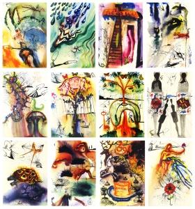 Illustraties van Salvador Dalí voor Alice in Wonderland