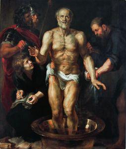 De dood van Seneca door Rubens