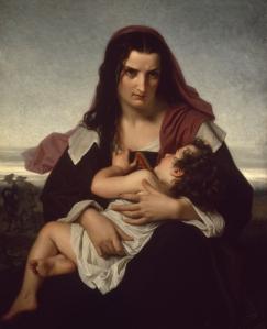 Schilderij van Hester en Pearl door Hugues Merle