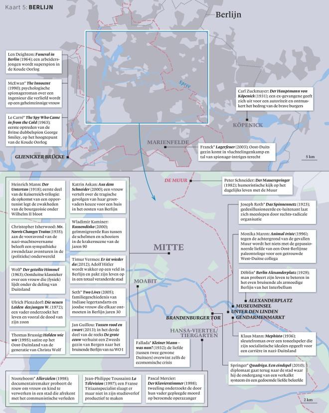 Kaart (Pieter Steinz en Rik van Schagen) uit Steinz - Gids voor de wereldliteratuur (Nieuw Amsterdam, € 34,95)